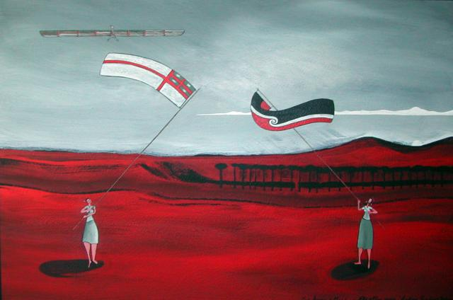 """""""Fly a Flag""""Acrylic on canvas800mm x 1000mm$1,800SOLD*"""